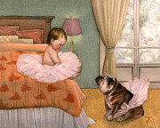 Pink Bedroom Prints - Tutu Print by Isabella Kung