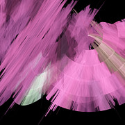Ballerinas Mixed Media Posters - TuTu Stage Left Abstract Pink Poster by Andee Photography