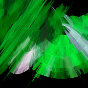 Ballerinas Digital Art Prints - TuTu Stage Left Green Abstract Print by Andee Photography