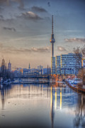 Business-travel Digital Art Prints - TV tower sunset Print by Nathan Wright