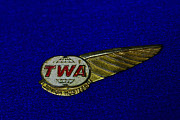 Hostess Framed Prints - TWA Aviation WIngs Framed Print by Paul Ward