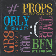 Tween Textspeak 3 Print by Debbie DeWitt