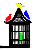 Bird Cages Posters - Tweet Poster by Sharon Lisa Clarke