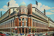 Baseball Murals Paintings - Twenty-First and Lehigh by Thomas  Kolendra