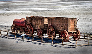 Wagon Wheels Photos - Twenty-Mule Team by Robert Bales