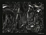 Bicycle Drawings - Twenty-Nine by Matthew Jarrett