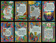 Jesus Writing Framed Prints - Twenty Third Psalm Collage 2 Framed Print by Terrie Heslop