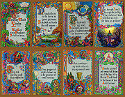 Jesus Writing Framed Prints - Twenty Third Psalm Collage Framed Print by Roger Reeves  and Terrie Heslop