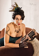 Steampunk Photos - Twig with Raygun by David April