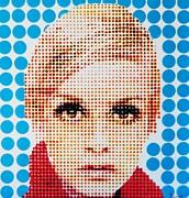 Twiggy Blue Dot  Print by Grant  Swinney