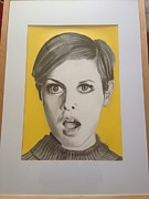 Twiggy Drawings Framed Prints - Twiggy Framed Print by Martin Burton