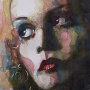 Eyes Metal Prints - Twiggy Where Do You Go My Lovely Metal Print by Paul Lovering
