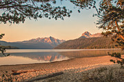 Haybales Photo Metal Prints - Twilight At Redfish Lake  Metal Print by Robert Bales