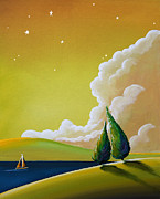 Citron Paintings - Twilight Bay by Cindy Thornton