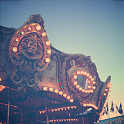 Joy Stclaire Framed Prints - Twilight Carnival Ride Framed Print by Joy StClaire