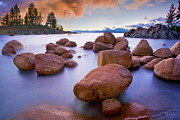 Peter Lik Style Framed Prints - Twilight Cove - CraigBill.com - Open Edition Framed Print by Craig Bill