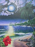 Tropics Drawings - Twilight In Paradise by Ace Robst Jr