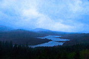 Highlands Of Scotland Prints - Twilight In Scotland - Loch Garry Print by Mark E Tisdale