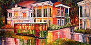 Garden District Paintings - Twilight in the Garden District by Diane Millsap