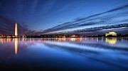 Jefferson Memorial Tapestries Textiles - Twilight  by JC Findley