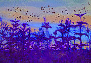 Prairie Mixed Media - Twilight Meadow Magic by First Star Art