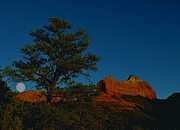 Maureen Photos - Twilight Moon over Sedona by Maureen J Haldeman