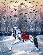 Rocking Digital Art - Twilight Mystery-winter by Judy Wood