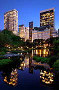 Central Framed Prints - Twilight NYC Framed Print by Brian Jannsen