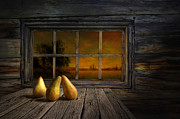 Pear Art Metal Prints - Twilight of the evening Metal Print by Veikko Suikkanen