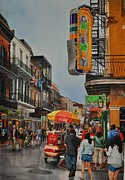 New Orleans Originals - Twilight on Bourbon by Robert W Cook