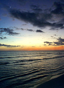 Golf Of Mexico Prints - Twilight on Siesta Key Print by Kathleen Mroz