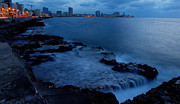 Malecon Posters - Twilight on the Malecon Poster by Robert Watson