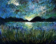 Ion Vincent Danu Art - Twilight Over a Transylvanian Lake by Ion vincent DAnu