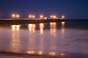 San Clemente Framed Prints - Twilight Pier Framed Print by Scott Terry