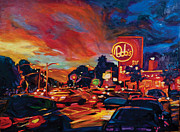 Hamburger Paintings - Twilight Rush by Bonnie Lambert