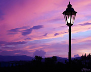 Lamp Post Prints - Twilight Time Print by Ellen Henneke