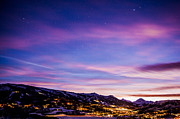 Ski Village Framed Prints - Twilight Framed Print by Tom Cuccio