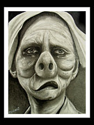 Twilight Zone Drawings - Twilight Zone Nurse by The Art of Vinnie Peachey