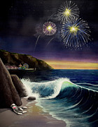 4th Of July Paintings - Twilights Last Gleaming by Jack Malloch