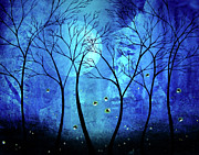 Lightning Bugs Prints - Twilights Moon Print by Jaime Best