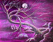 Tree Roots Paintings - Twilit Dream by Ann Thies