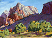 Early Morning Pastels Prints - Twin Brothers Vista Print by Patricia Rose Ford