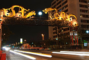 Jamie Pham - Twin Dragon Gate entrance to Los Angeles Chinatown
