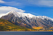 Gifts Posters - Twin Lakes Autumn Landscape Poster by James Bo Insogna