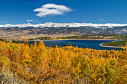 Autumn Foliage Posters - Twin Lakes Colorado Autumn Snow Dusted Mountains Poster by James Bo Insogna