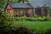 Red Barn. New England Framed Prints - Twin Peaks Framed Print by Bill  Wakeley