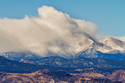 Longs Peak Photos - Twin Peaks Winter Weather View  by James Bo Insogna