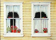 Curtains Originals - Twin Peeks by Mary Ellen  Mueller-Legault
