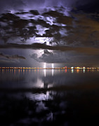 Lightning Photography Framed Prints - Twin Strikes Framed Print by David Lee Thompson