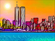 Twin Towers Trade Center Digital Art Metal Prints - Twin Towers Metal Print by Daniel Janda